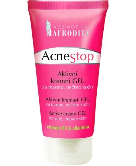 ACNESTOP Crema-gel activa pentru ten gras, acneic, tub 50ml