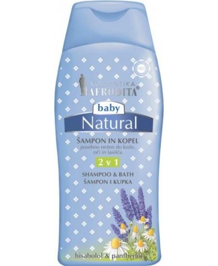 BABY NATURAL Şampon & Gel pentru baie - fără parabeni, parafină, silicon, coloranţi