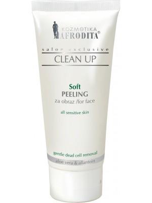 CLEAN UP Soft Peeling Facial pentru toate tipurile de ten, inclusiv tenul sensibil, tub 100 mL