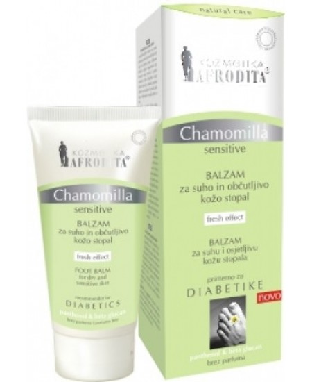 CHAMOMILLA SENSITIVE Balsam pentru picioare cu piele uscata, sensibila. Recomandat si pentru DIABETICI, tub 100 mL