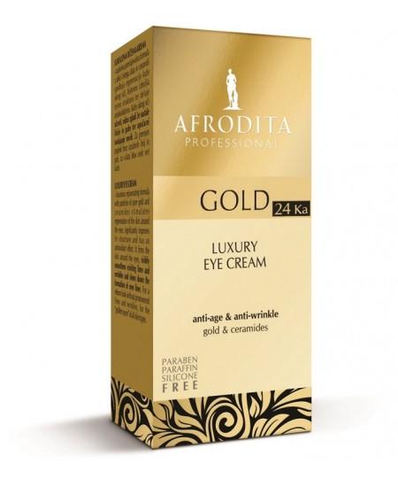 GOLD 24K LUXURY Crema de lux pt conturul ochilor  Fara parabeni, parafina, silicon. Flacon airless 15 ml