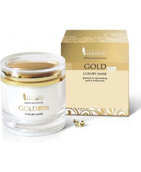GOLD 24k LUXURY Mască de ?ntinerire pentru ten peste 30 de ani sau ten uscat, matur. Cutie 200 ml