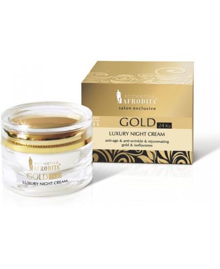 GOLD 24k LUXURY Crema de noapte pentru ten normal sau uscat. Cutie 50 ml