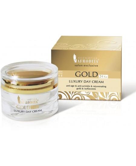 GOLD 24k LUXURY Crema de zi pentru ten normal/mixt sau uscat. Cutie 50 ml
