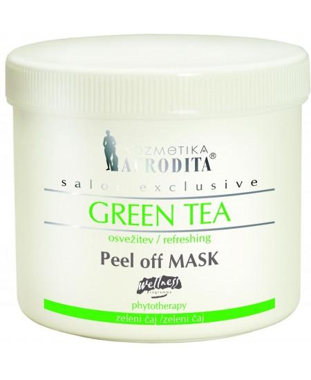 Masca peel-off faciala cu extract de ceai verde pentru ten normal, ten gras, cutie 150g pulbere