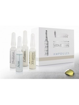VITA DERMA COLLAGEN 5 Fiole serum1,5ml pt orice tip de ten, cu efect imediat de lifting. Fara parafina, vaselina, silicon, parfum.
