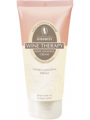 WINE THERAPY Crema nutritivă şi de masaj facial, cu extracte de vin şi şampanie - pentru ten uscat şi ten matur, tub 200 mL