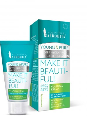 YOUNG & PURE Crema hidratantăpentru ten normal, mixt,  gras, impur. Fara parabeni.